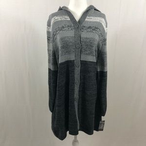 NWT Style & Co Hooded Cardigan Sweater, Size XL